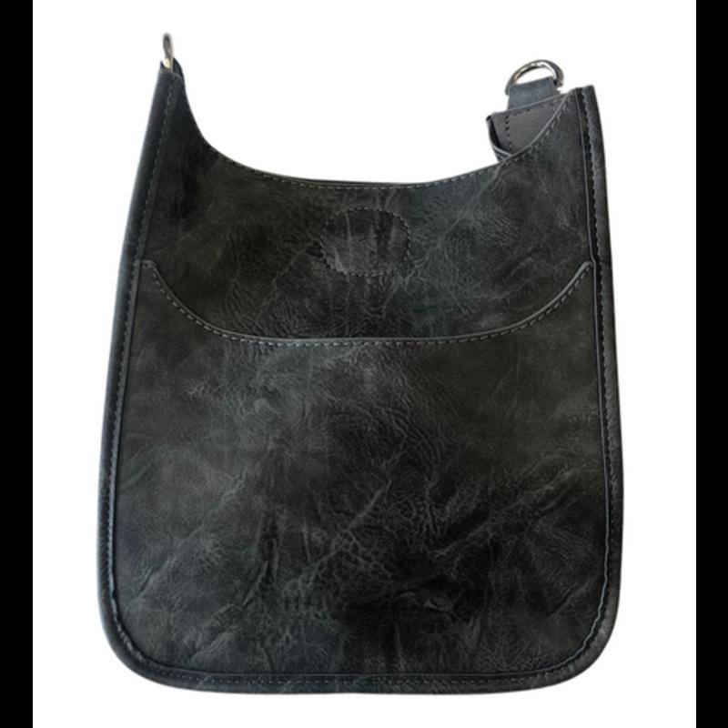 Ahdorned Mini Vegan Leather Messenger Bag - Grey