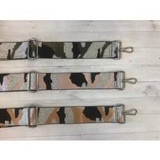 Ahdorned Ahdorned Silver Ground Camouflage Adjustable Bag Strap