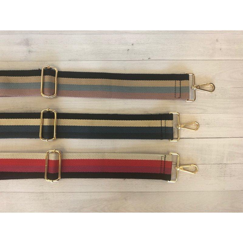 Ahdorned 4 Color Vertical Stripe Adjustable Bag  Strap