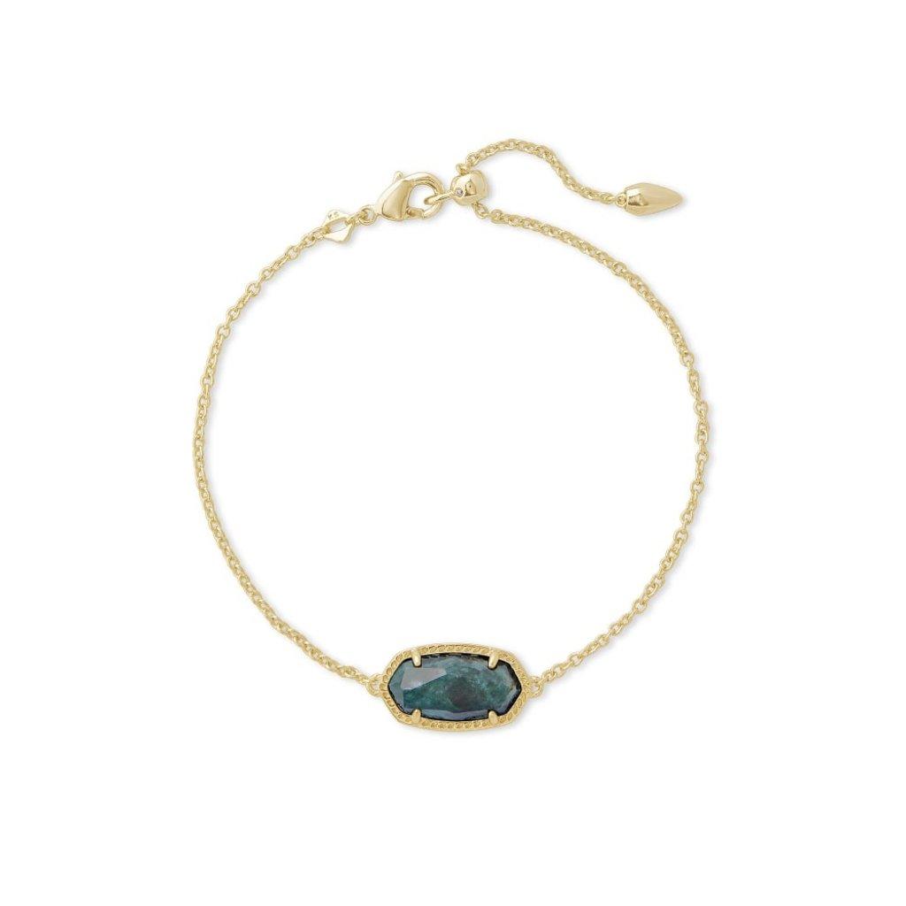 Kendra Scott Kendra Scott Elaina Slide Bracelet in Gold Green Apatite