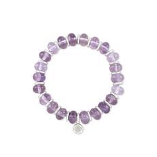 Kendra Scott Rebecca Stretch Bracelet in Silver Purple Amethyst