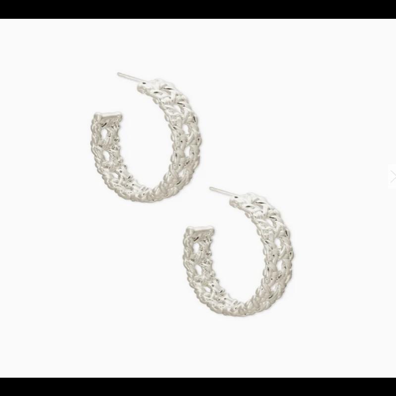 Kendra Scott Natalie Hoop Earrings in Silver