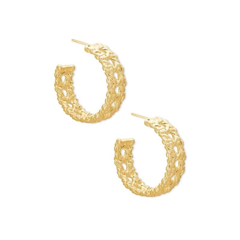 Kendra Scott Natalie Hoop Earrings in Gold