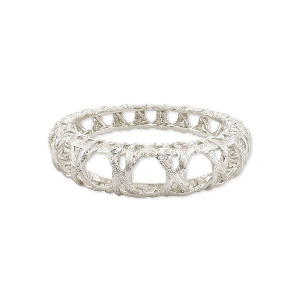Kendra Scott Natalie Hinge Bangle Bracelet in Silver - S/M