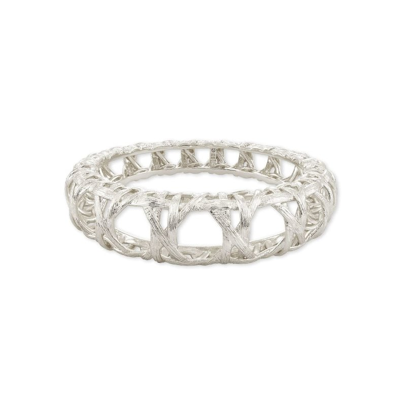 Kendra Scott Natalie Hinge Bangle Bracelet in Silver -  S/M