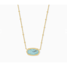 Kendra Scott Kendra Scott Elisa Satellite Short Necklace in  Gold Light Blue Magnesite
