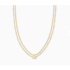 Kendra Scott Kendra Scott Emilie Multi Strand Necklace in Gold Iridescent Drusy