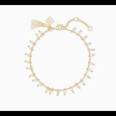 Kendra Scott Kendra Scott Jenna Delicate Bracelet in Gold White Howlite