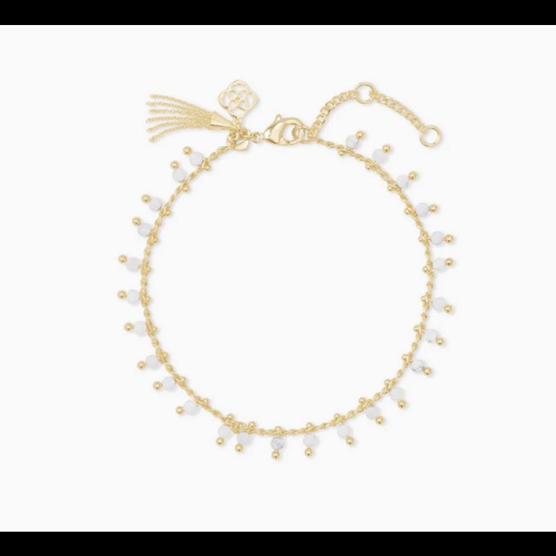 Kendra Scott Jenna Delicate Bracelet in Gold White Howlite