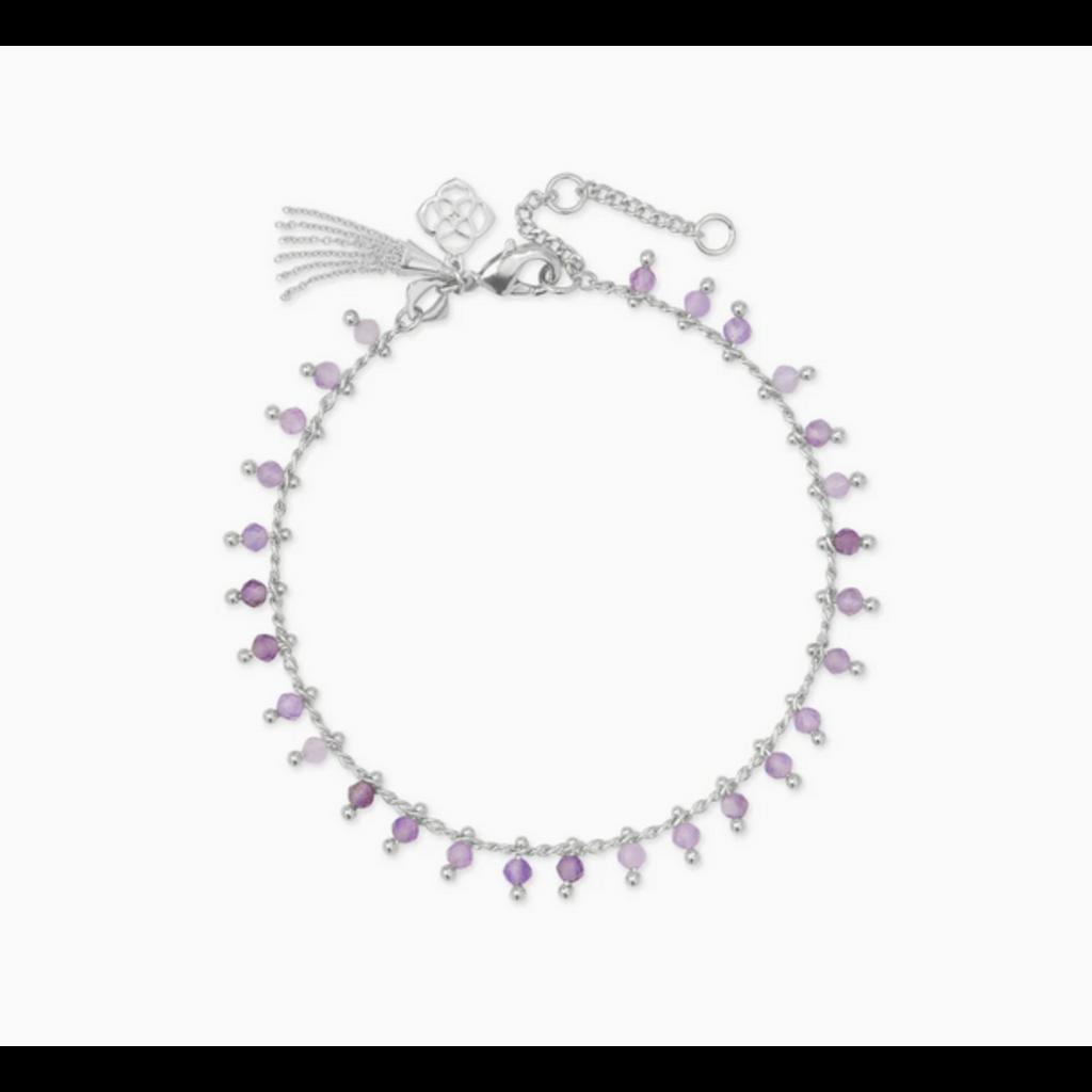Kendra Scott Kendra Scott Jenna Delicate Bracelet in Silver Purple Amethyst