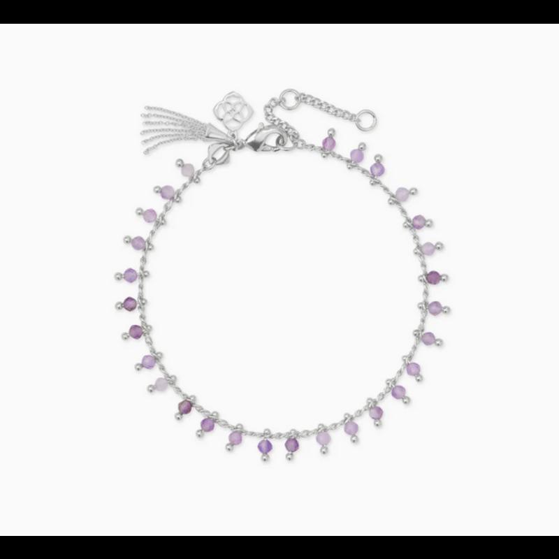 Kendra Scott Jenna Delicate Bracelet in Silver Purple Amethyst