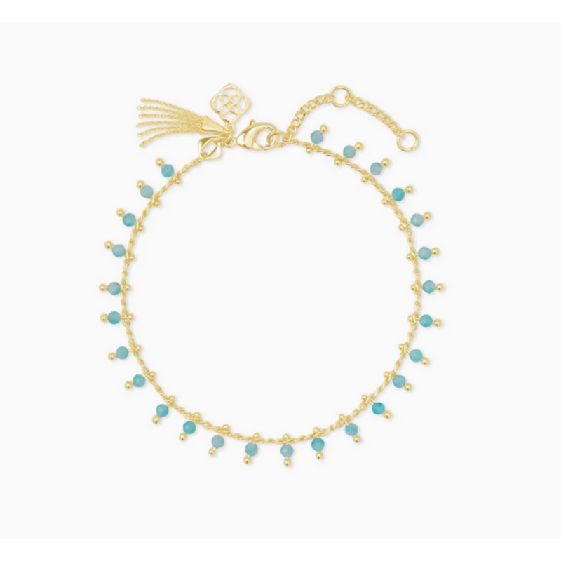 Kendra Scott Jenna Delicate Bracelet in Gold Teal Amazonite