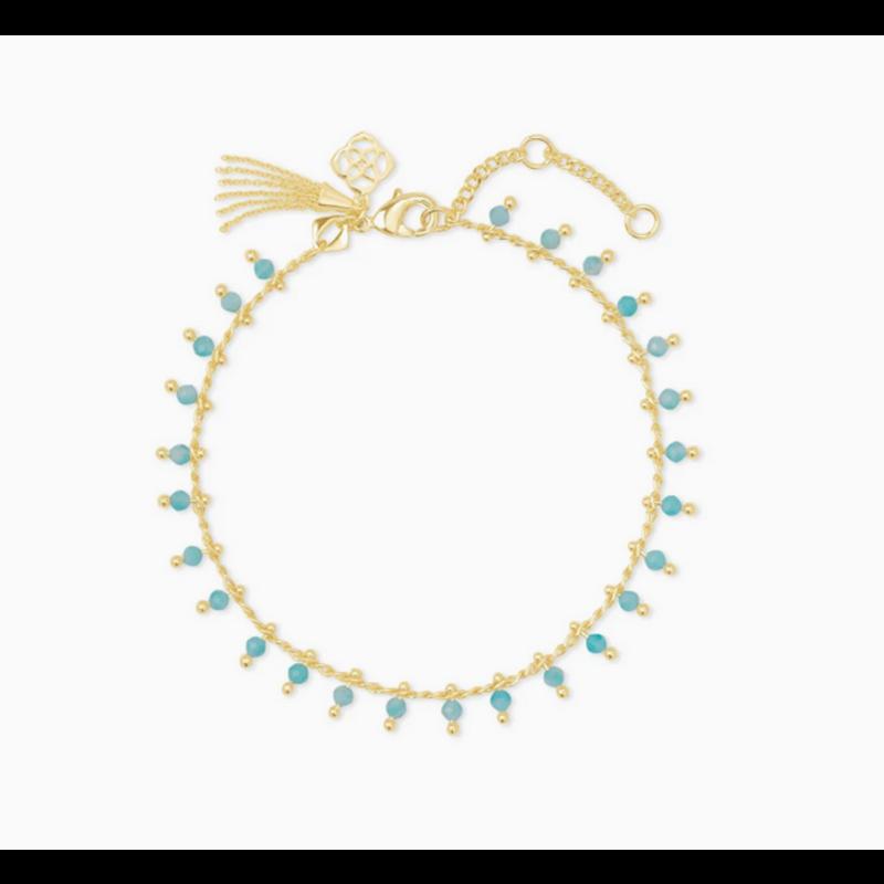 Kendra Scott Jenna Delicate Bracelet in Gold Teal Amazonite
