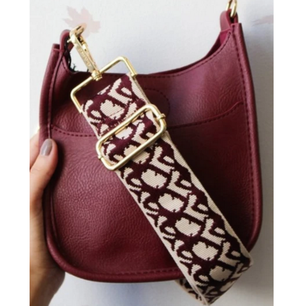Ahdorned Ahdorned Cream Ground Adjustable Bag Strap