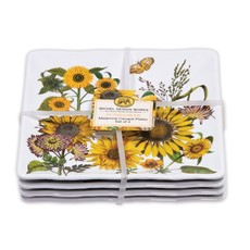 Michel Design Works Michel Design Works Melamine Canape Plate Set of 4 - Sunflower