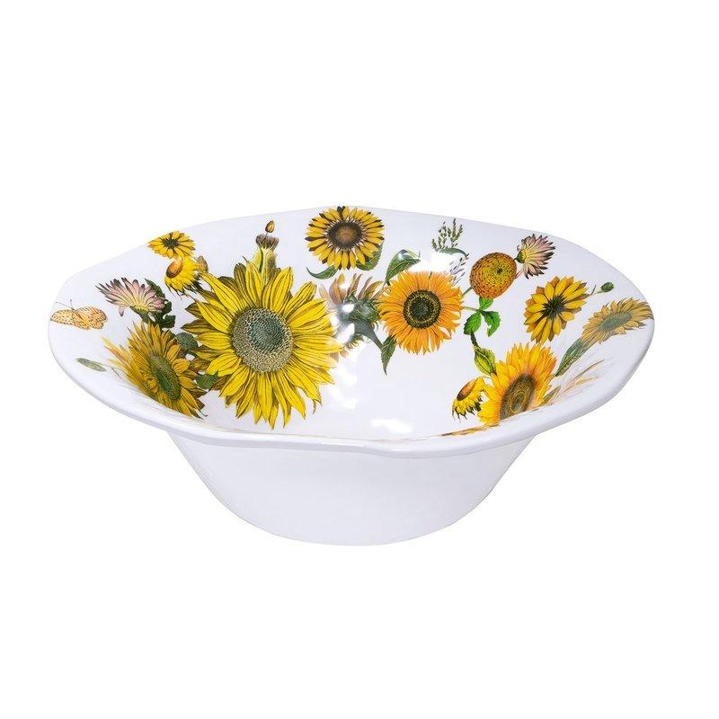 Michel Design Works Melamine Serveware Large Bowl - Sunflower