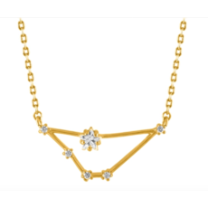 Initial Reaction Initial Reaction Constellation Necklace - Capricorn/Gold