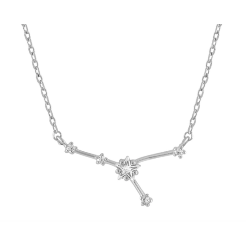 Initial Reaction Initial Reaction Constellation Necklace - Cancer/Silver
