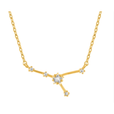 Initial Reaction Initial Reaction Constellation Necklace - Cancer/Gold