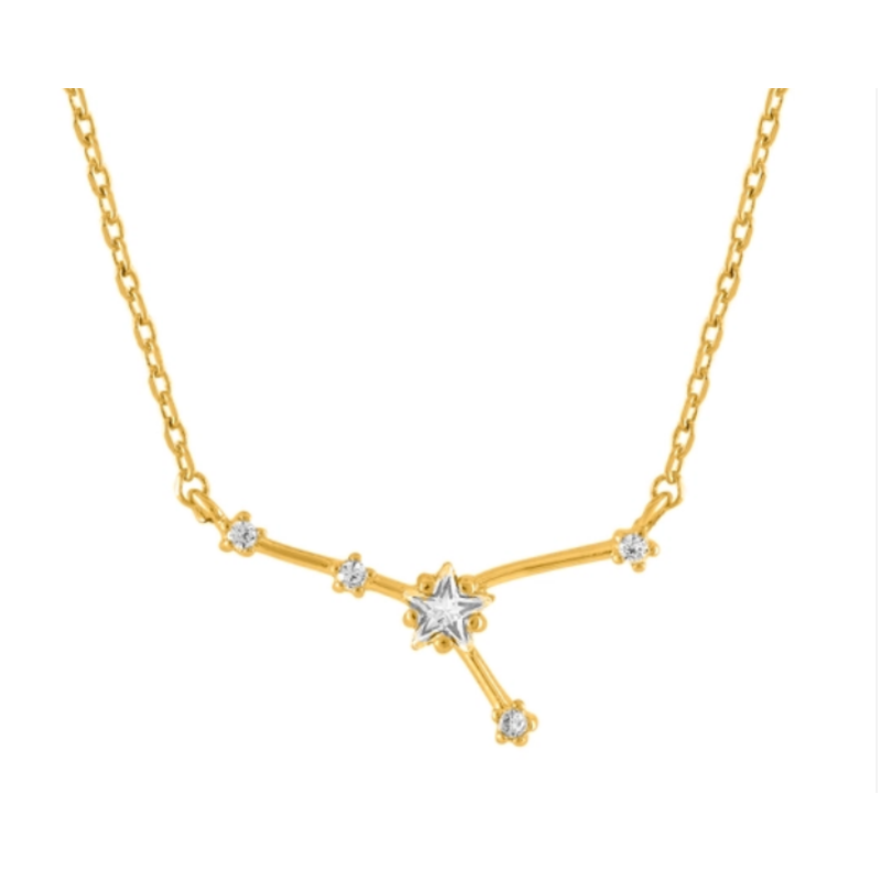 Initial Reaction Constellation Necklace - Cancer