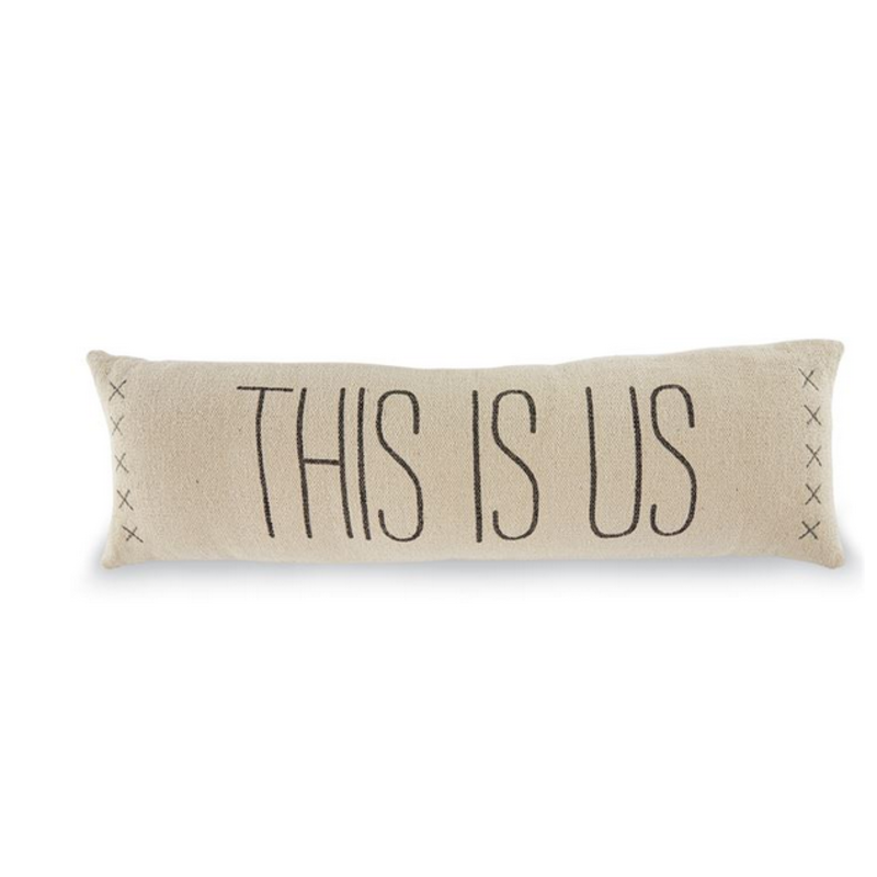 Mud Pie This Is Us Long Dhurrie Pillow