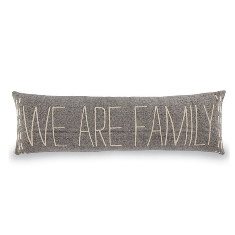 Mud Pie We Are Family Long Pillow