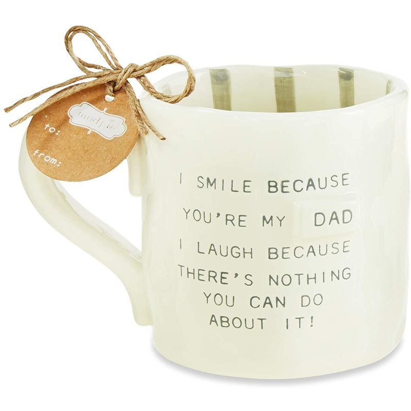 Mud Pie Funny Smile Dad Mug