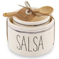 Mud Pie Mud Pie Salsa & Guac Nested Bowl Set