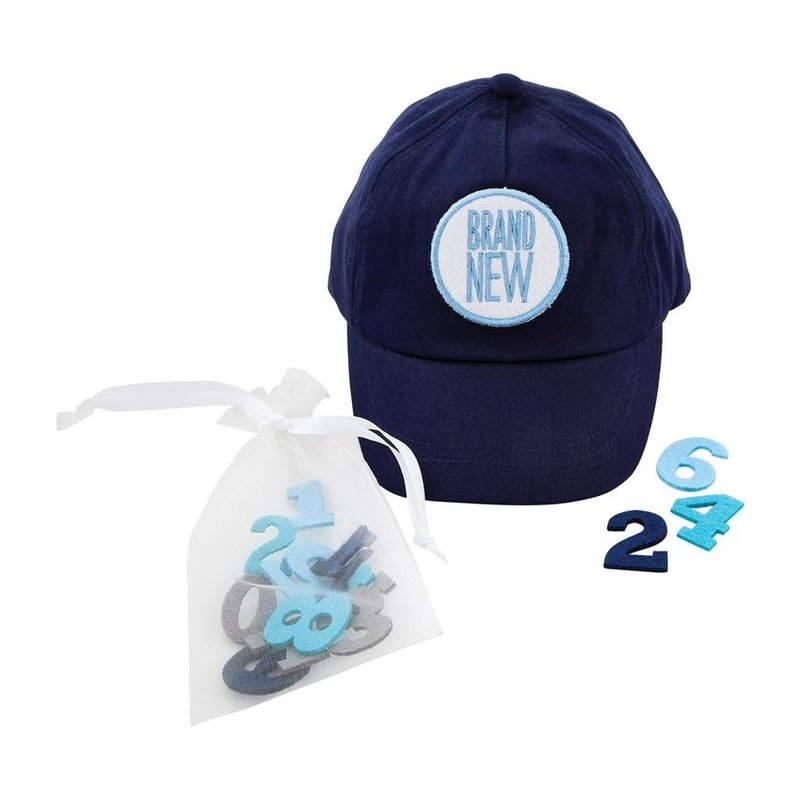 Mud Pie Milestone Baseball Cap Set