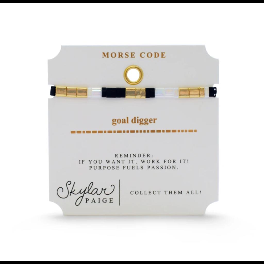 Skylar Paige Goal Digger Bracelet - White & Bold
