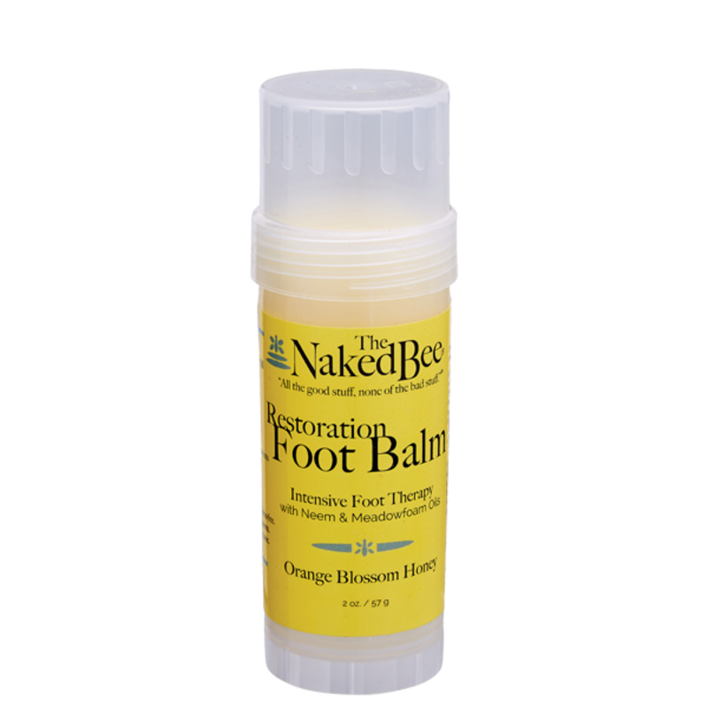 The Naked Bee Restoration Foot Balm  - Orange Blossom Honey