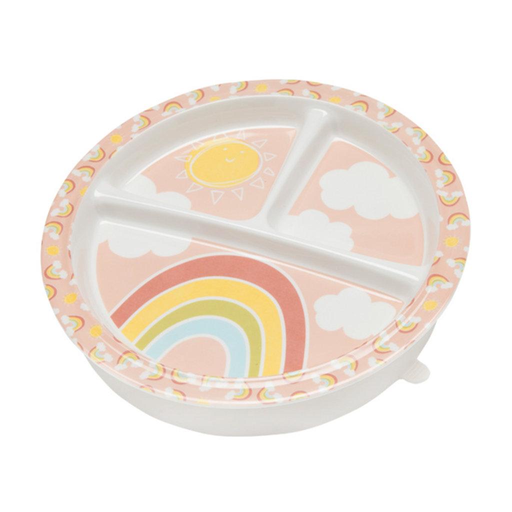 ORE Original Divided Suction Plate Rainbows & Sunshine