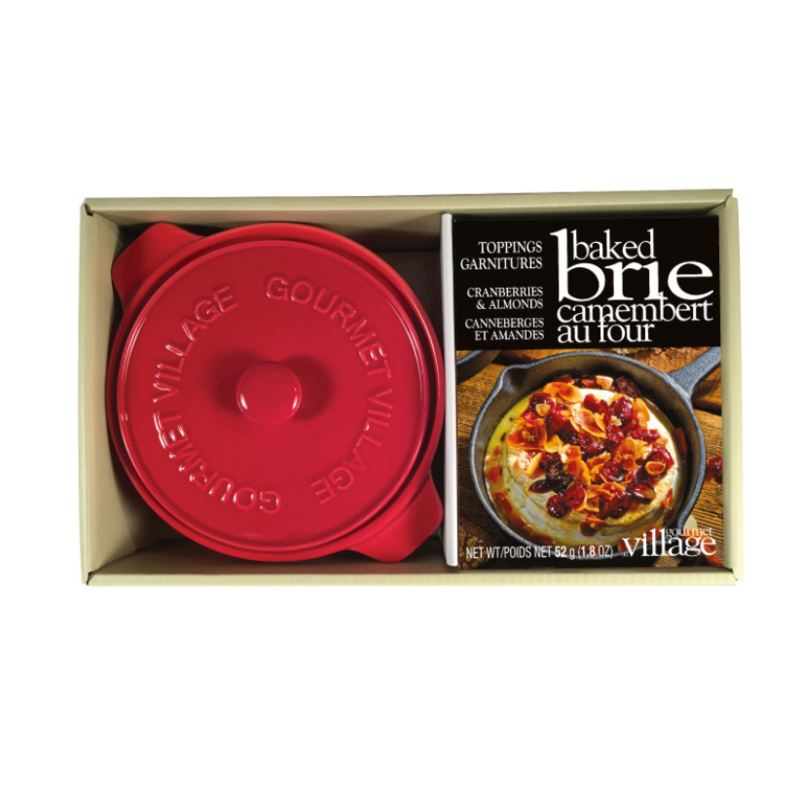 Gourmet Du Village Red Brie Baker Kit with Cranberry Almond Topping
