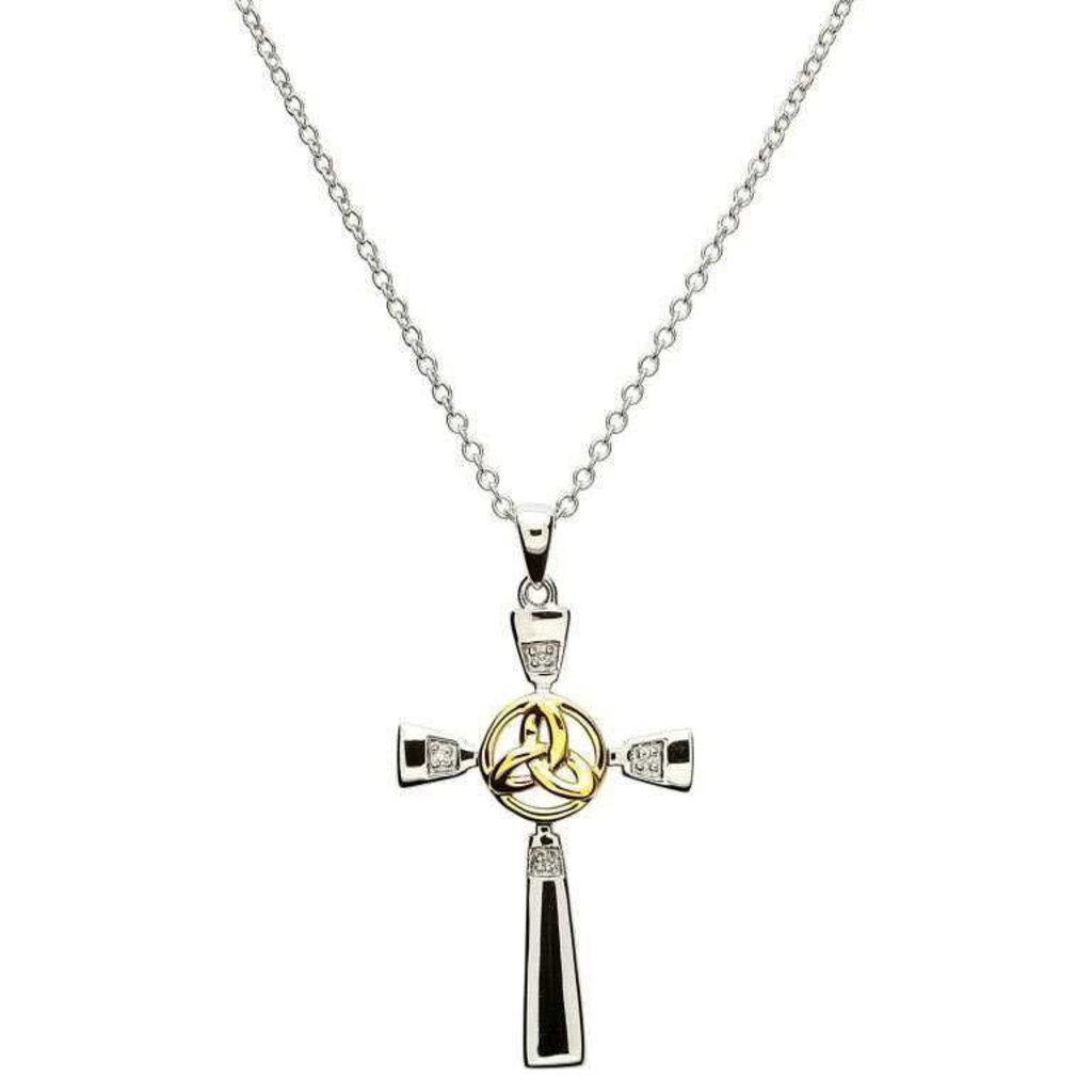 ShanOre ShanOre Celtic Silver Cross with Gold Plate Trinity