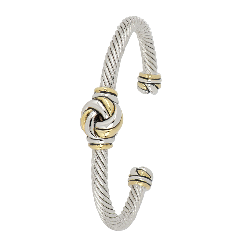 John Medeiros John Medeiros - Infinity Knot Two Tone Center Wire Cuff Bracelet