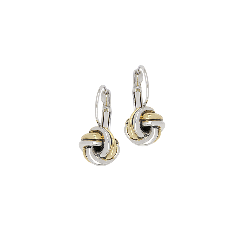 John Medeiros Infinity Knot Two Tone French Wire Earrings