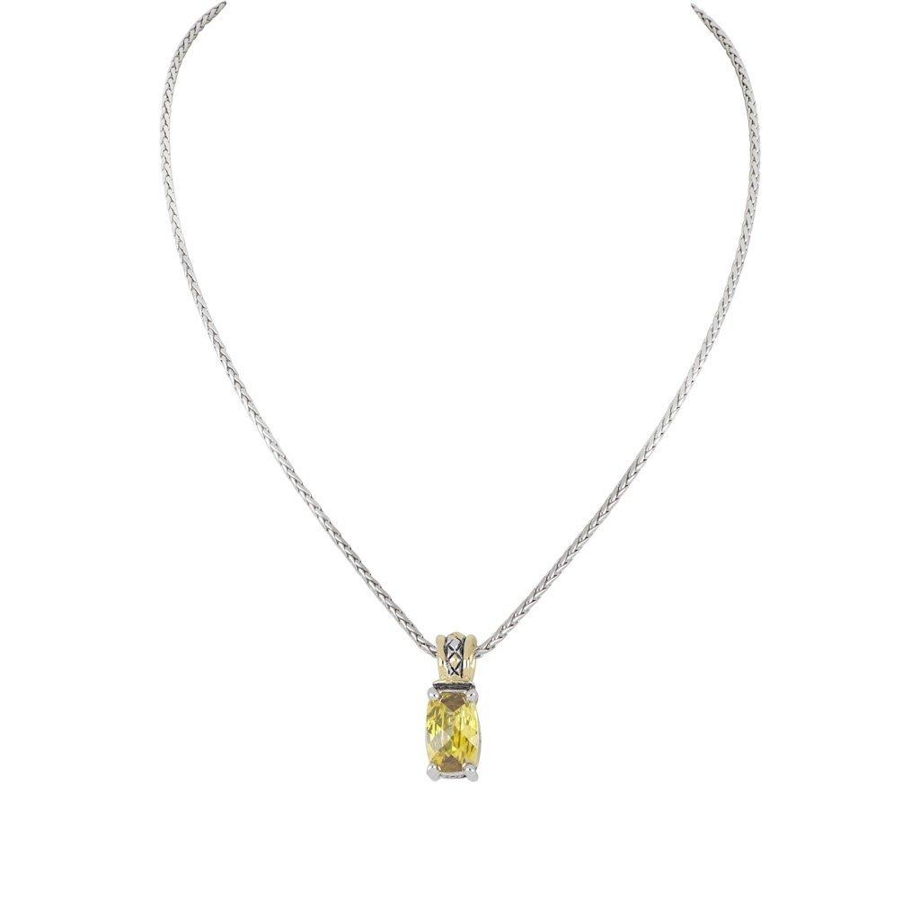 John Medeiros John Medeiros - Beijos Cor Narrow TJ Cut Pendant Necklace - Yellow