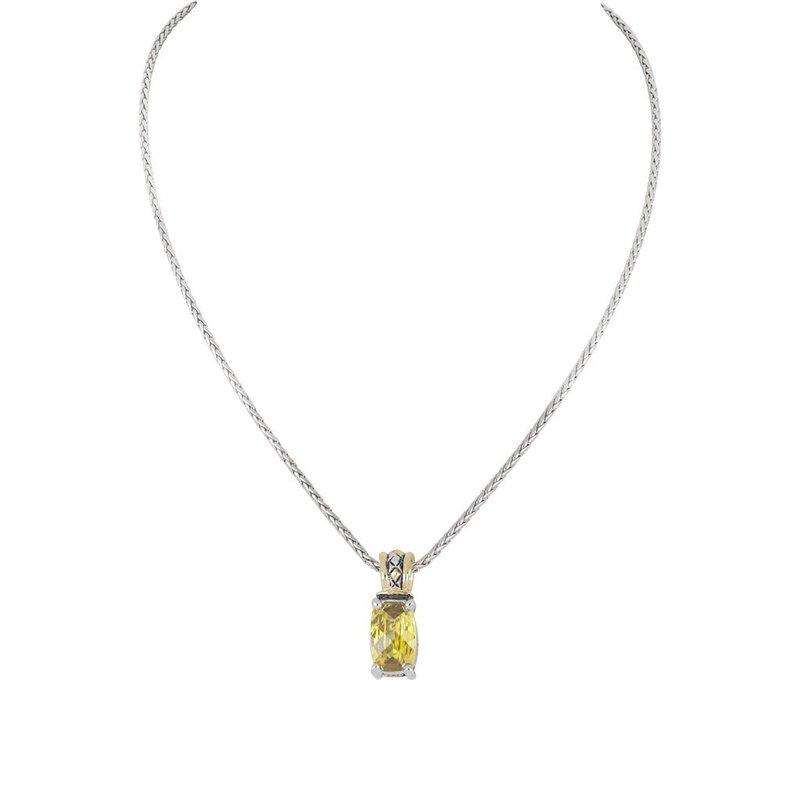 John Medeiros Beijos Cor Narrow TJ Cut Pendant Necklace - Yellow