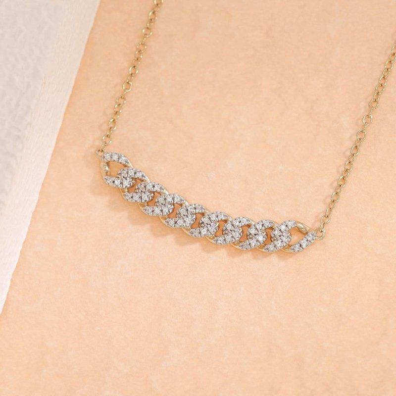 Ella Stein Close Knit Necklace .11 Diamond Weight - Gold