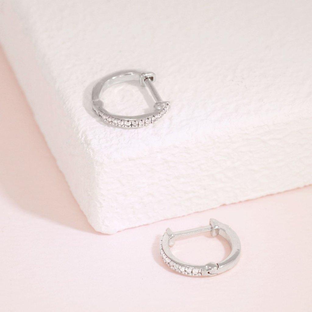 Ella Stein Ella Stein Half-Hearted Adventure? Never! Mini Hoop Earrings - Silver