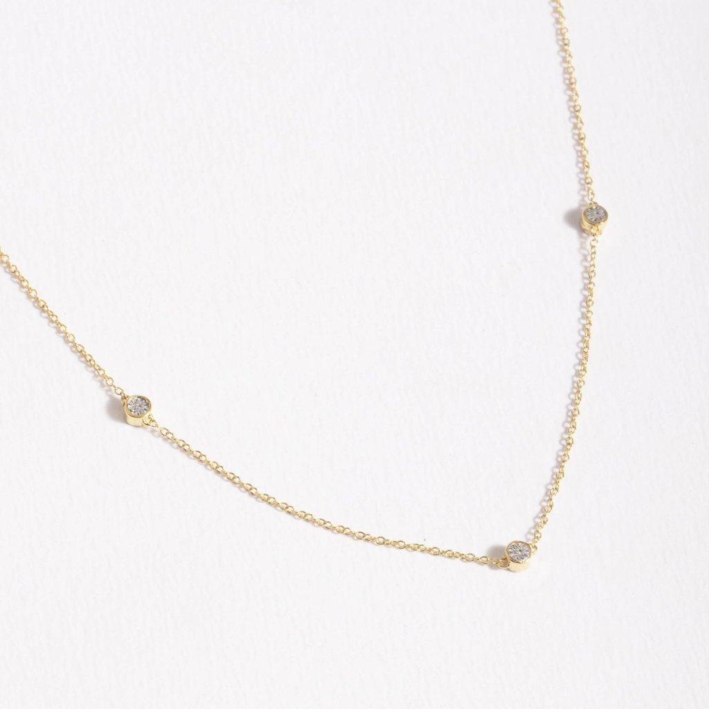 Ella Stein Ella Stein Dot to Dot Necklace .02 Diamond Weight - Gold