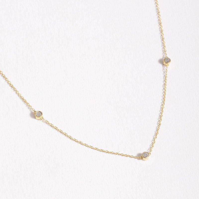 Ella Stein Dot to Dot Necklace .02 Diamond Weight - Gold