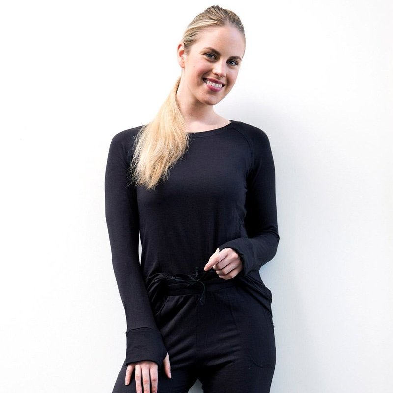 Hello Mello The Weekender Raglan Sleeve Top - Black - S