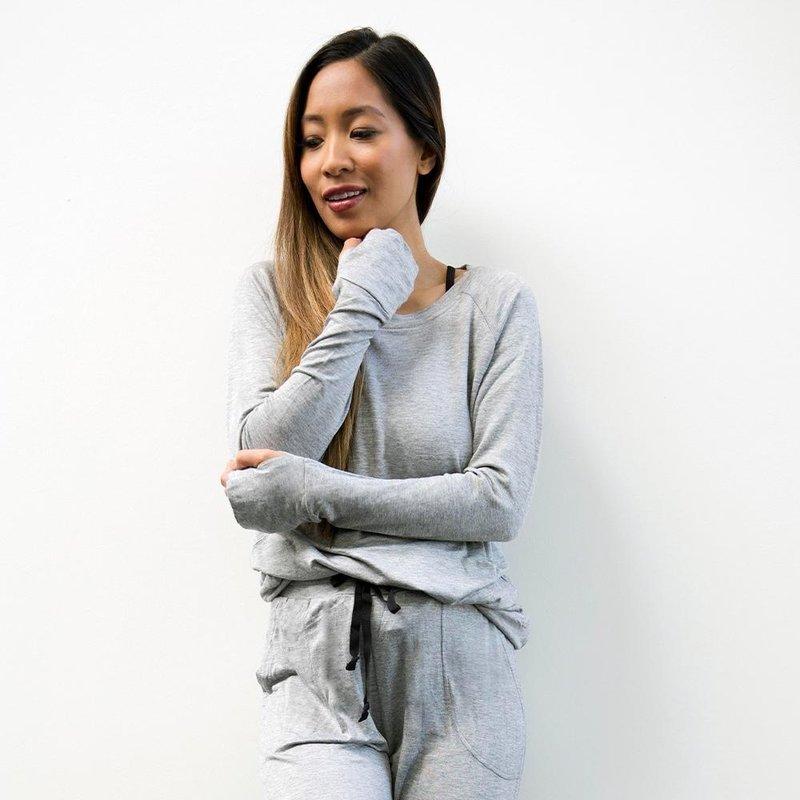 Hello Mello The Weekender Raglan Sleeve Top - Grey - L