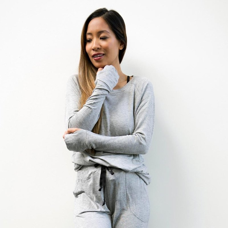 Hello Mello The Weekender Raglan Sleeve Top - Grey - XL