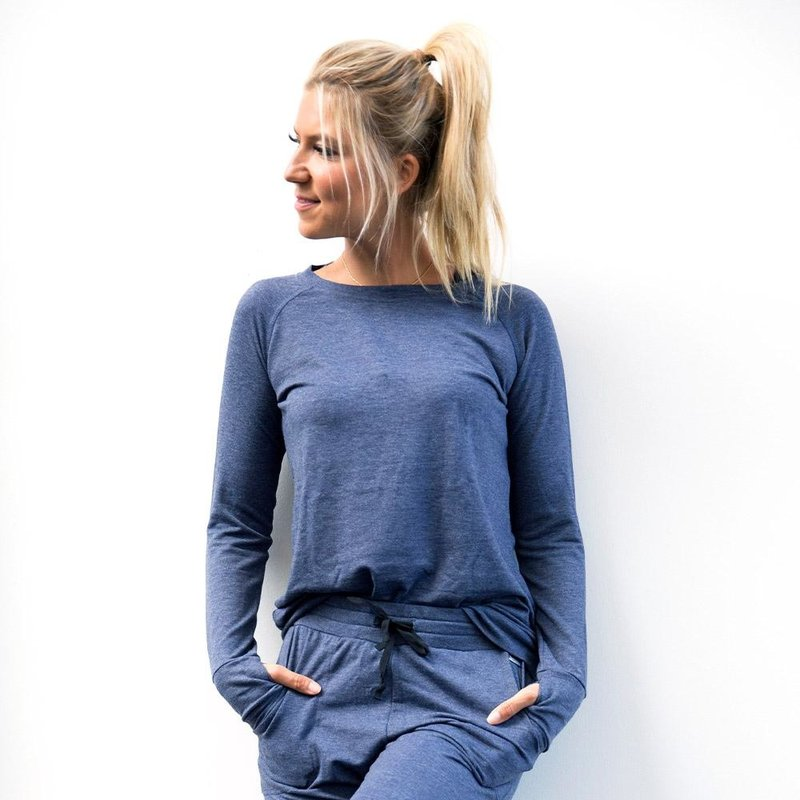 Hello Mello The Weekender Raglan Sleeve Top - Navy - XL