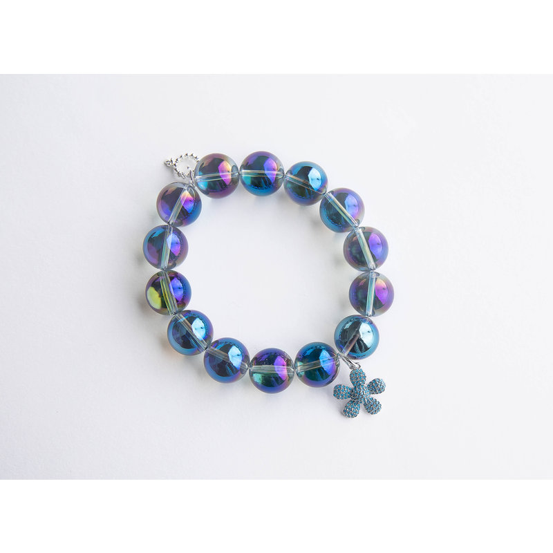 PowerBeads by Jen Mermaid quartz paired with turquoise pave flower
