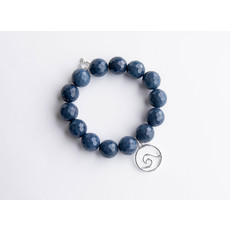PowerBeads by Jen PowerBeads by Jen Washed denim agate paired with a silver wave