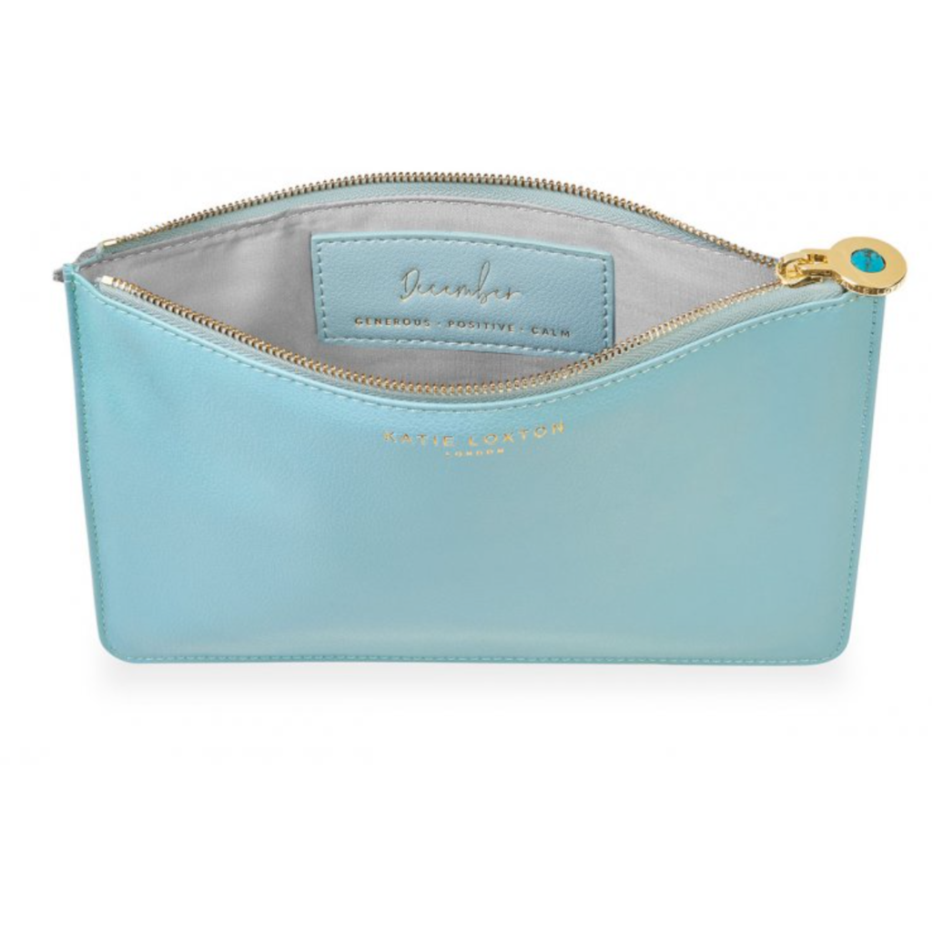 Katie Loxton Birthstone Perfect Pouch - December Turquoise - Duck Egg Blue