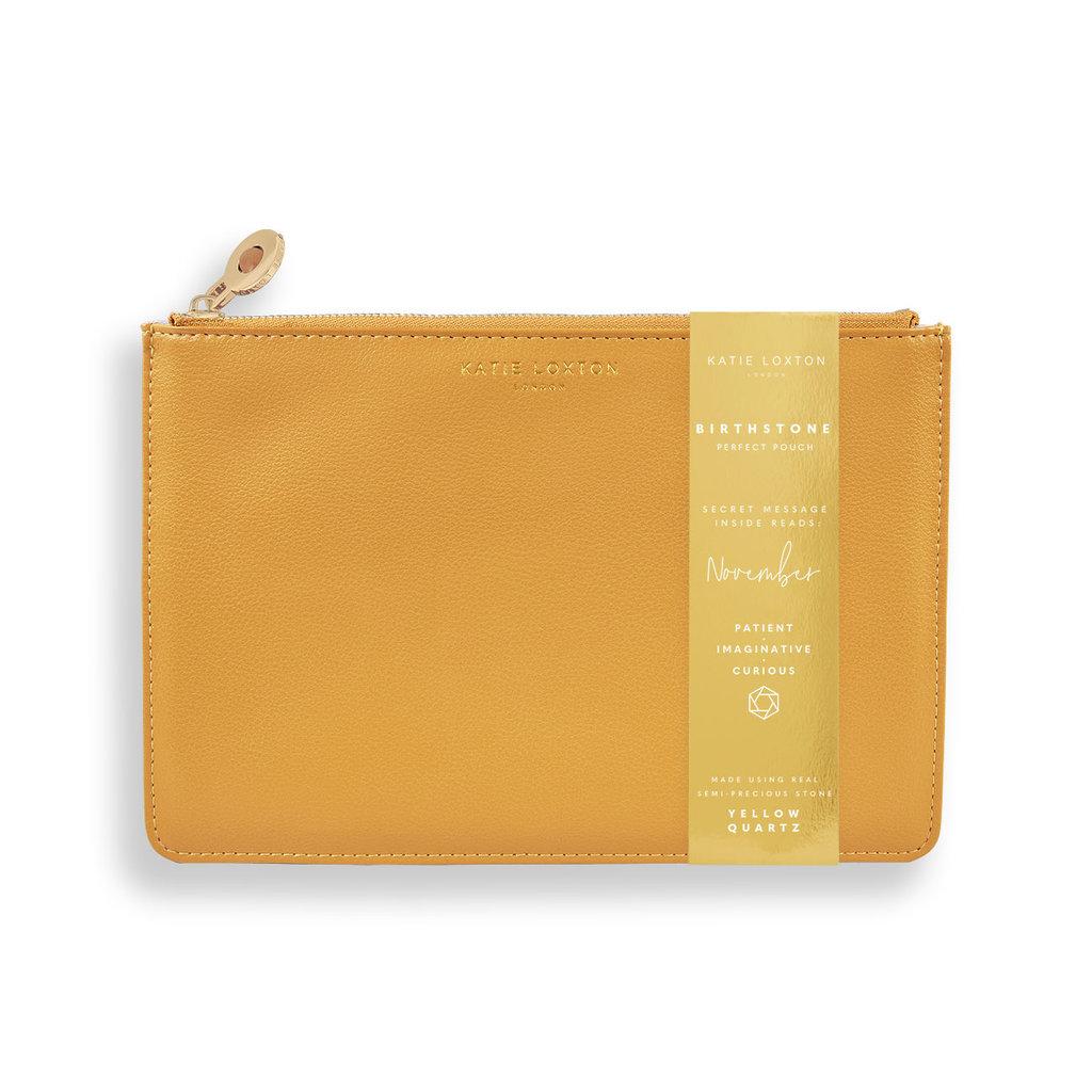 Katie Loxton Birthstone Perfect Pouch - November Yellow Quartz - Orche